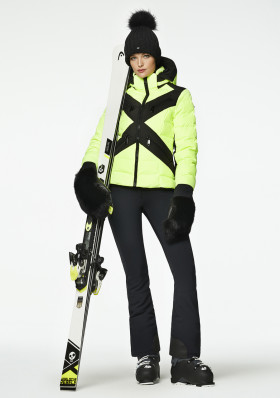 Dámska bunda Goldbergh CROSS jacket NEON YELLOW